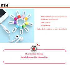 Silicone Headphone Earphone Cord Cable Winder Router Management For Mobile