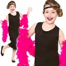 1920s Flapper Girls Fancy Dress Gatsby 20s Charleston Kids Childs Costume Outfit