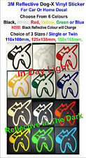 3M Reflective Dog-x Vinyl Stickers For Car or Home Decal - Single or Twin