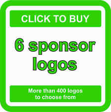 6 SPONSOR Logo Decals JDM Stickers - More than 400 logos to choose from