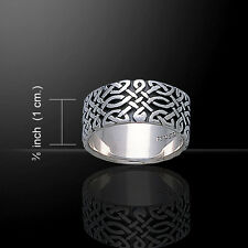 Forever Celtic Knotwork Sterling Silver Wedding Commitment Ring Band  Sizes 5-15