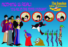 The Beatles Yellow Submarine Nothing Is Real Postcard Photograph Official NEW