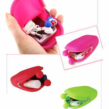 Fashion Rubber Silicone Cosmetic Makeup Bag Cellphone Pouch Bag Coin Purses Bag