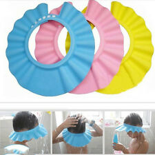 Baby Children Kids Safe Shampoo Bath Bathing Shower Cap Hat Wash Hair Shield AV