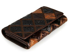 Fashion Long Real Leather ID Credit Card Wallet Bifold Cowhide Money Clip New