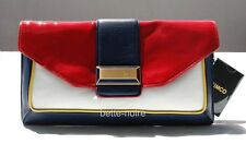 MIMCO Pablo Envelope Clutch Sapphire Scarlet Jonquil White BNWD RRP$299 Bag Blue