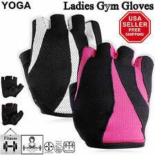 Ladies Weight Lifting Gloves Fingerless Women Yoga Training Workout Gym Fitness