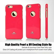 Genuine MERCURY Goospery Hot Pink Jelly Case Cover +CutOut For iPhone 6/6s Plus
