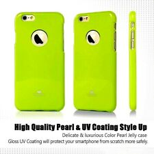 Genuine Goospery Lime Green Jelly Case + Apple LOGO Cutout For iPhone 6/6s Plus