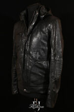 GHOST PROTOCOL BLACK Mens Mission Impossible Hooded Movie Real Leather Jacket