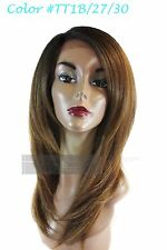 Signature Looks Synthetic Straight Coarse Yaky Texture SK311 Lace Front Wig