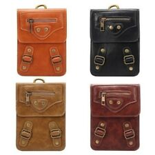 Universal Genuine Real Leather Clip Pocket Pouch Cellphone Case Cover Travel Bag