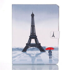 Tower Pattern Leather Flip Smart Stand Case Cover Shell for iPad 2 3 4 Mini Air
