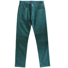 Corduroy Pants Mens Cords Jeans  Slim Fit Green New Size 30 31 32 33 34 35 36