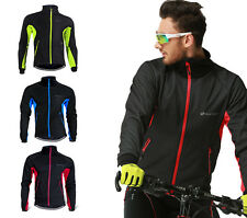 Men Winter Coat Thermal Warm Fleece Windproof Jacket Bike Bicycle Cycling Jersey