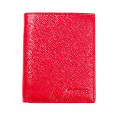Red Slim RFID Blocking Security Protector Wallet Card Case Holder Sleeve Women