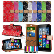 For Sony Xperia E3 - Glitter Bling Diamond Encrusted Tab Case Cover Wallet &Mini