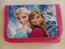 Girls Frozen Anna Elsa Wallet Purse Pink Blue Party Favor