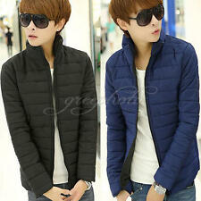 Fashion Mens Winter Slim Jacket Padded Coat Overcoat Warm Outwear Tops Gifts
