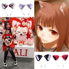 Fashion Girl Cute Cat Fox Fuzzy Ears Headband Anime Cosplay Party Coser Costume