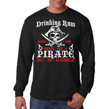 Drinking Rum Before Noon Makes You A Pirate Funny Long Sleeve T-Shirt Tee