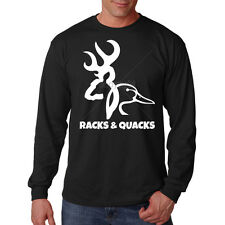 Racks & Quacks Duck Deer Buck Hunting Funny Long Sleeve T-Shirt Tee