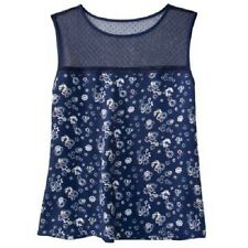 NEW! Authentic Jason Wu Chiffon Crepe Blouse Navy Blue Floral Embroidered