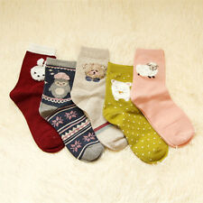5Pairs Lot Women's Cotton Cute Multi-color 3DAnimal Pattern Fashion Casual Socks