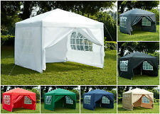 Waterproof 3x3m Gazebo Pop-Up Garden Canopy Windbar Outdoor Marquee Wedding Tent