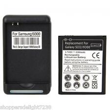 NEW 2300mAh  Battery+Charger For Samsung Galaxy S3 i9300 T999 I747 L710 I535
