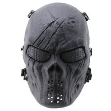 New Hot Skull Skeleton Full Face Mask Hunting Military Tactical Mask High Qualit