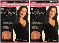 Lot of 2 Chic Shaper As seen on TV Breast Lift/Back Support-New!