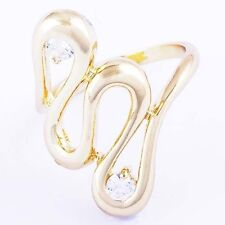 Unique style womens Gemstone crystal Twisted rings size 6 7 free shipping