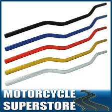 "MOTORCYCLE MOTORBIKE 7/8"" 22mm HANDLEBARS ALUMINIUM LOW UNBRACED HANDLE BAR"