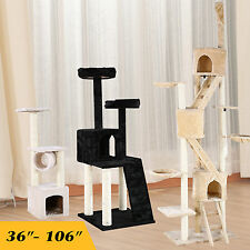 Deluxe Cat Tree Scratching Tower Condo Furniture Kitten Post Pet play House