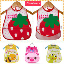 Baby Feeding Cloth Waterproof Bib Kid Infant Folding Pocket Bibs Cute Safe