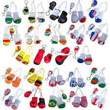 Miniature Boxing Gloves & key Ring Mini Boxing Gloves COUNTRIES FLAGS