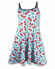 Liquorbrand Cherry Gingham Dress Pinup Rockabilly Skater 40s 50s Party Festival