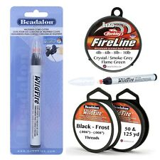 BeadSmith Fireline,  Beadalon Wildfire Beading Threads or Wildfire Cord Cutter