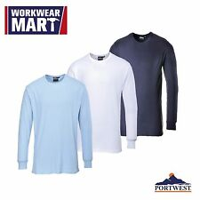 Thermal 2 Piece Underwear Set, 2PC Long Johns T Shirt Combo Baselayer, Portwest