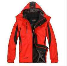 New Mens Cotton Fleece Sports  Lining Winter Coat Hooded Jacket Warm Parka Z48