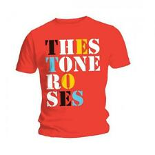 The STONE ROSES T SHIRT Font Logo Red Official Mens All Sizes Ian Brown Unisex
