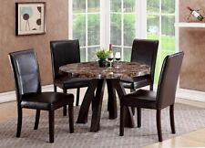 The Room Style Faux Marble Top Round / Square Dining Wood Table *TABLE ONLY*