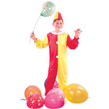 #BOYS CLOWN CHILDRENS PARTY OUTFIT CIRCUS HALLOWEEN JESTER FANCY DRESS ALL SIZES