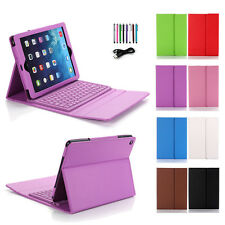 Bluetooth Keyboard Wireless Leather Case Cover For Apple iPad Air 2 Mini &Stand