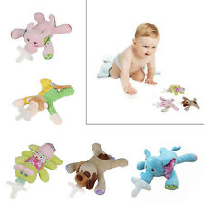 Cute Plush Animal Baby Boy Girl Infant Pacifier Soother Nipples Soft Doll Toy