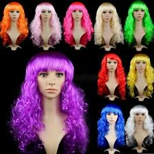 Womens Lady Girl Long Curly Wavy Hair Synthetic Anime Cosplay Wig Full Wigs A11
