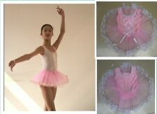 Pink Kids' Dancewear Girls Fairy Ballet Costume Tutu Dance Leotard Skirt A034