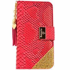 Womens Leather Flip Wallet Purse Case Credit Card Holder PINK iPhone 6 6S Plus