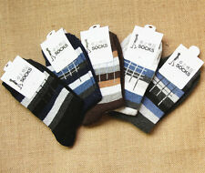 5Prs New Men's Dress Sock Strip Angora Cashmere Cotton Winter Warm Man Socks